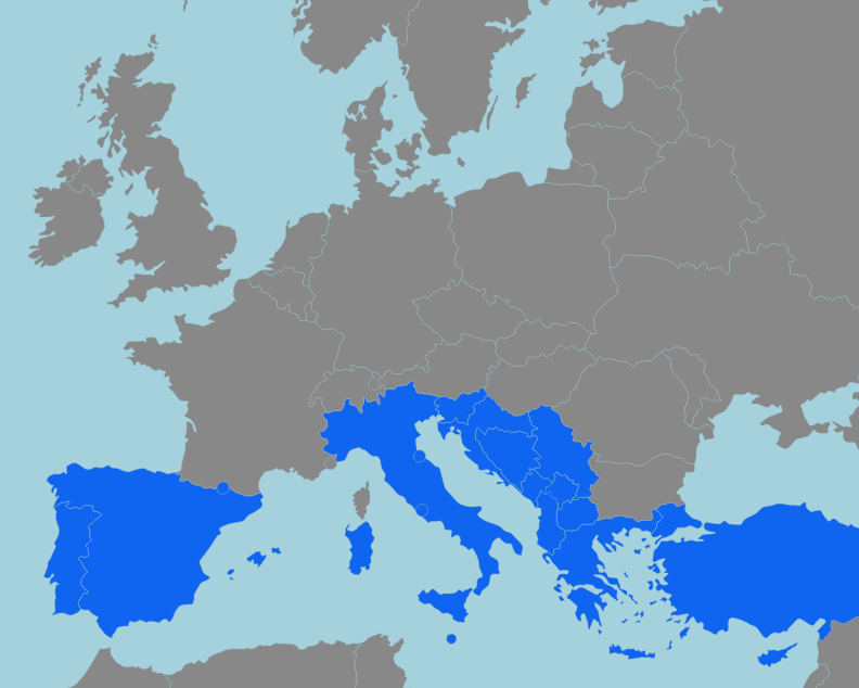 Europa Meridionale Cartina.Trova 18 Paesi Dell Europa Meridionale Sulla Mappa Interattiva